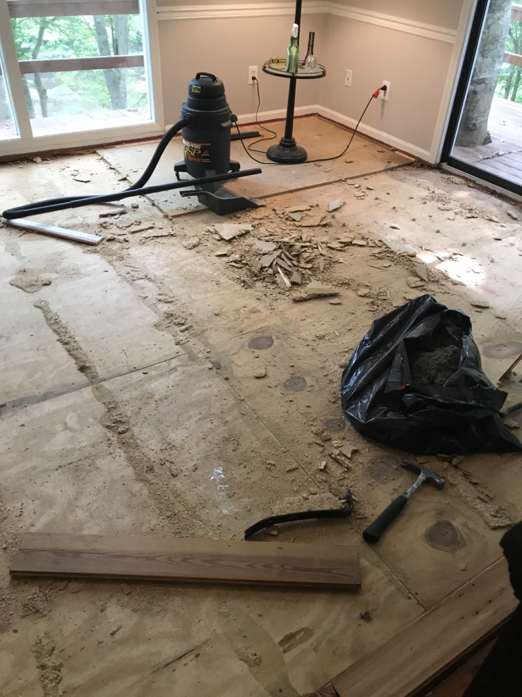 Replacing Old Carpet (part 2 Dining Room) 1