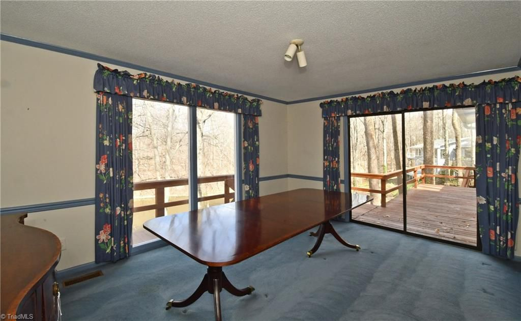 Dining Room Blue Carpet Replaced with Hardwood Heart Of Pine