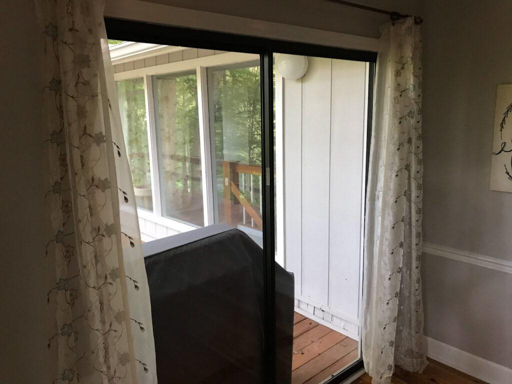 Old Aluminum 1990 6ft sliding door dining room inside