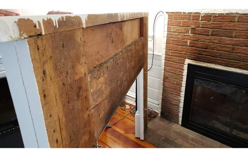 Build a Stunning Modern Fireplace & Mantel 1