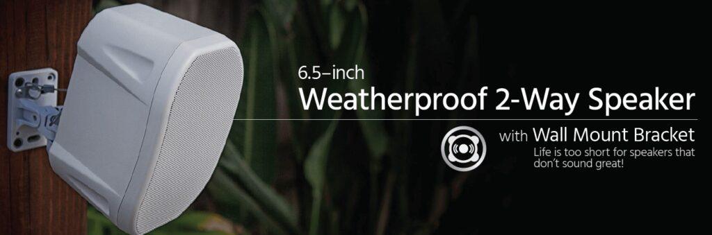 Top Rated Outdoor Speakers weatherproof Monoprice 6.5 Outdoor speakers with wall mount bracket