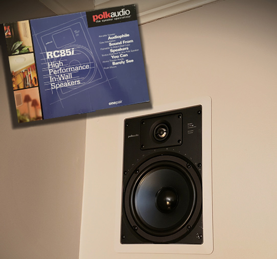 Polk Audio 6.5 RC85i in wall speakers no grill