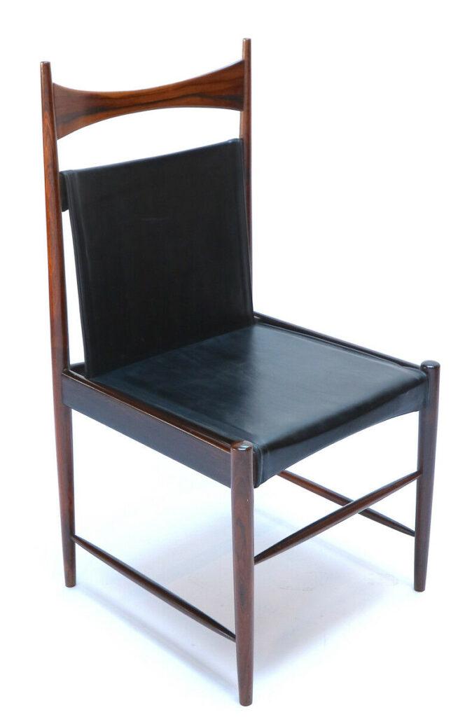 1960s Brazilian Jacaranda Cantu Chairs by Sergio Rodrigues 3 quarter view