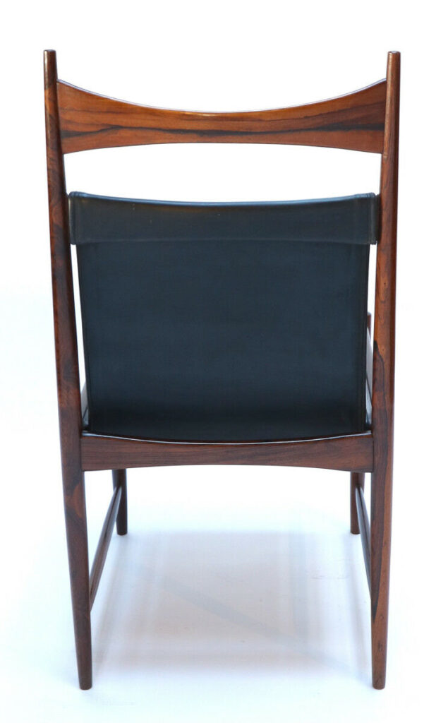 1960s Brazilian Jacaranda Cantu Chairs by Sergio Rodrigues Back