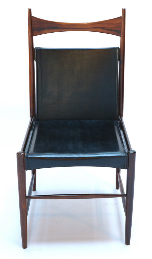 1960s Brazilian Jacaranda Cantu Chairs by Sergio Rodrigues Front