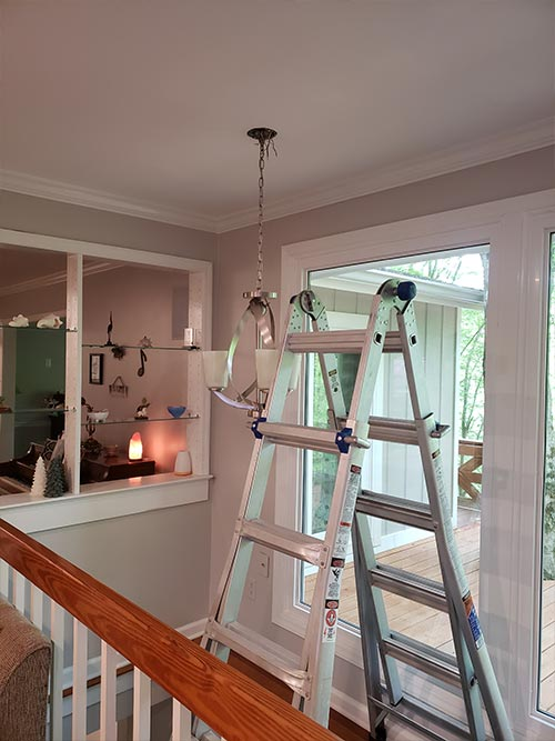 removal of old Chandelier