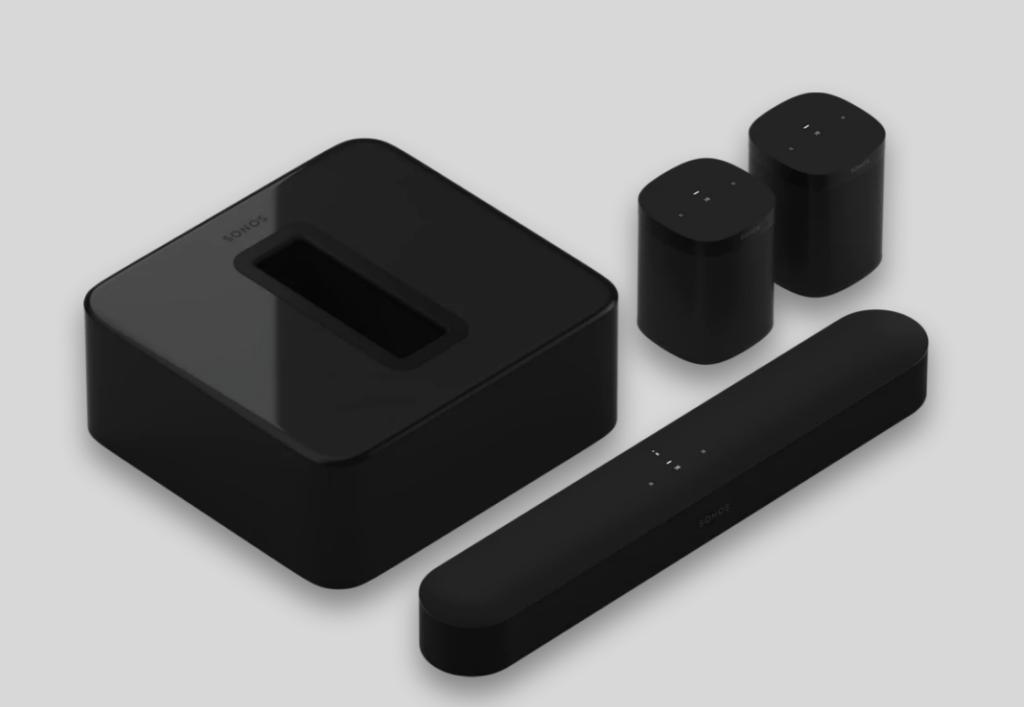 Sonos Black 5.1 Surround Set with Sonos Beam Sub and One SL